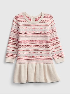 Baby Fair Isle Pattern Dress