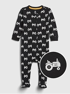 babyGap Organic Cotton Footed One-Piece