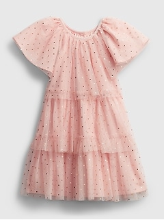Toddler Glitter Tiered Dress
