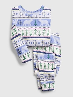 babyGap Bear Graphic PJ Set