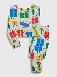 babyGap  present graphic PJ Set