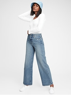 Sky High Wide-Leg Jeans With Washwell™