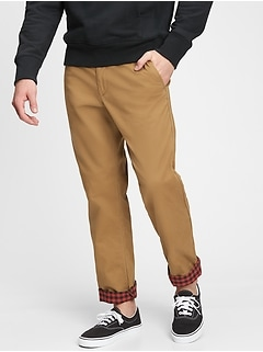 Modern Khakis in Straight Fit and Flannel Lining with GapFlex