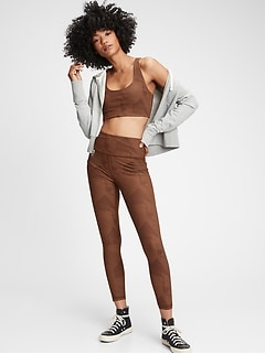GapFit High Rise Linear Jacquard 7/8 Leggings