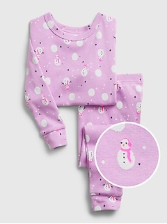 babyGap Snowmen Graphic PJ Set