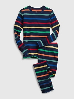 Kids Happy Stripe PJ Set