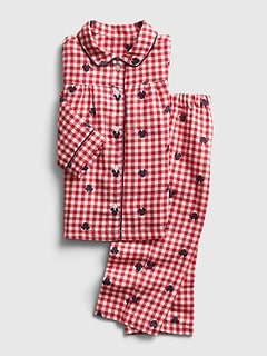 babyGap | Disney Minnie Mouse Plaid PJ Set