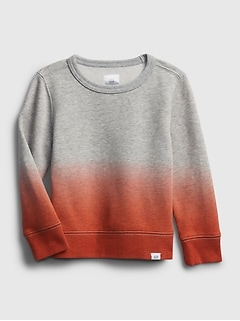 Toddler Recycled Dip-Dye Crewneck Sweatshirt