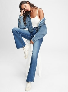 High Rise Vintage Flare Jeans With Washwell™