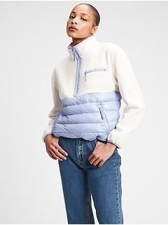 GapFit 100% Recycled Fleece Puffer Jacket