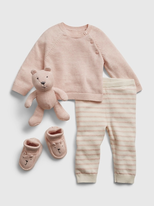 Baby Sweater Outfit Set with Brannan Bear