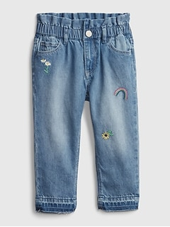 Toddler Pull-On Just Like Mom Jeans with Washwell™