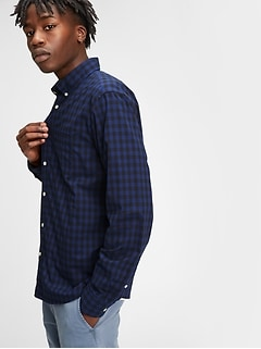 Lived-In Poplin Shirt in Untucked Fit