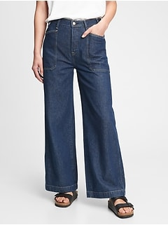 Gap & Jean ReDesign Sky High Wide Leg Trouser Jean With Washwell™