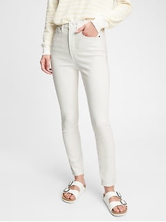 Sky High Rise True Skinny Jeans with Secret Smoothing Pockets With Washwell™