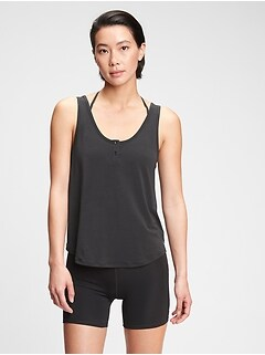GapFit Breathe Henley Tank Top
