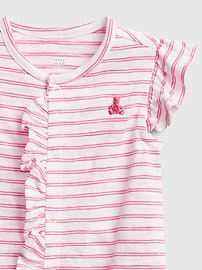 Baby 100% Organic Cotton First Favorite Ruffle Shorty One-Piece