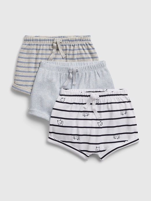 Baby Brannan Bear Pull-On Shorts (3-Pack)