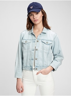 Cropped Icon Denim Jacket With Washwell™