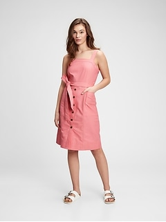 Linen-Cotton Apron Dress