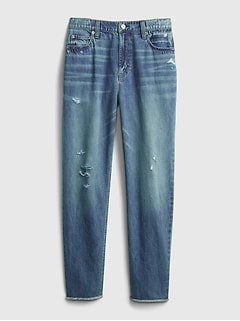 Teen Recycled Sky High-Rise Mom Jeans