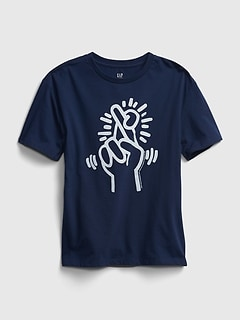 Teen | Keith Haring Recycled Oversized Graphic T-Shirt