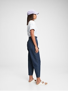 High Rise Paperbag Jeans With Washwell™