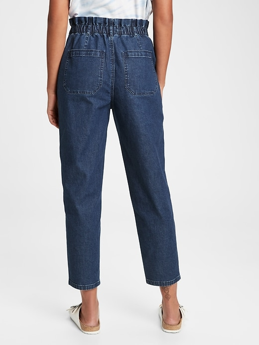 High Rise Paperbag Jeans With Washwell&#153