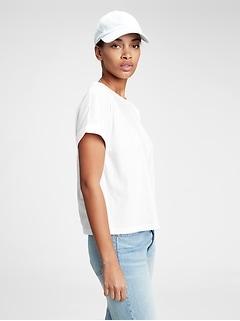 Vintage Abbreviated Roll Cuff T-Shirt