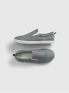 Kids Chambray Slip-On Shoes