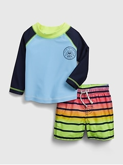 Baby 100% Recycled Polyester Swim Two-Piece