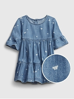 Baby Butterfly Denim Dress