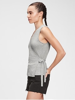 Softspun Sleeveless Wrap-Front Top