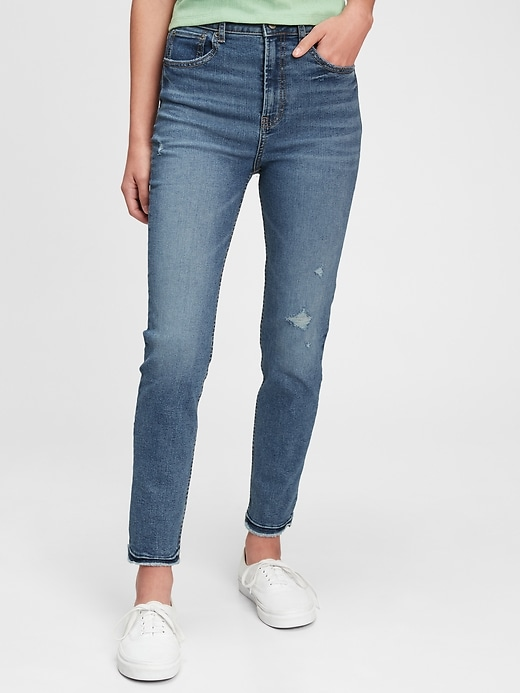 Teen Sky High Rise Skinny Ankle Jeans with Max Stretch