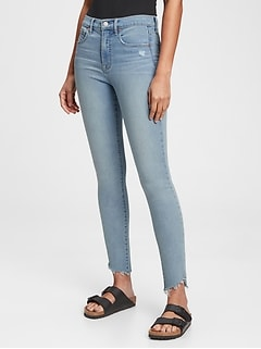 High Rise True Skinny Jeans with Secret Smoothing Pockets With Washwell™