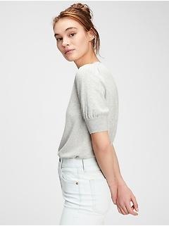 Crewneck Short Sleeve Sweater