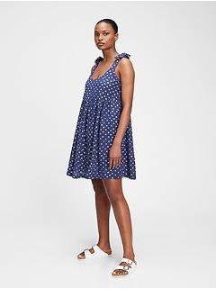 Tie-Strap Mini Dress