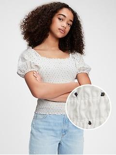 Teen Puff Sleeve Shirt