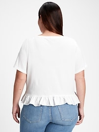 Vintage Cropped Ruffle T-Shirt