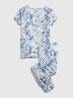 Kids 100% Organic Cotton Tie-Dye Print PJ Set