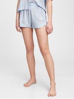 Crinkle Pull-On Shorts