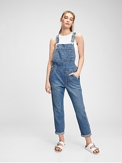 Relaxed Denim Overalls With Washwell™