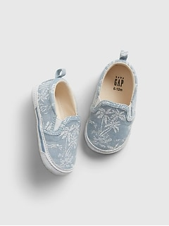 Baby Chambray Slip-On Shoes