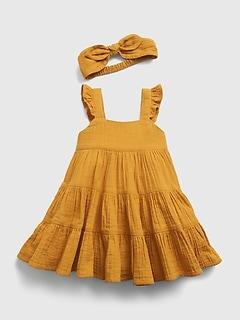 Baby Gauze Tiered Dress
