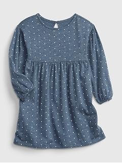 Toddler 100% Organic Cotton Skater Dress