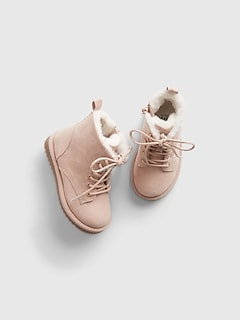 Toddler Lace-Up Cozy Boots